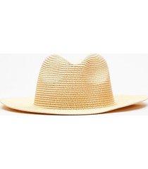 womens straw fedora hat - natural