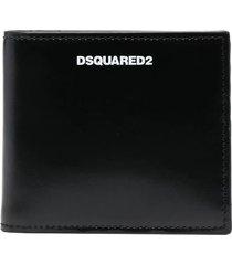 dsquared2 man smooth black wallet