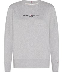 tommy hilfiger gray cotton sweater with logo