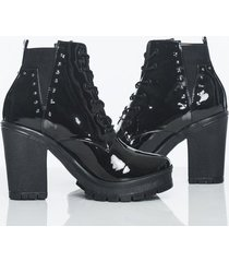 botas negro charol strars kclass top 2016