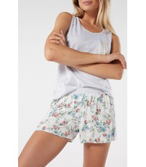 shorts in viscosa a fiori