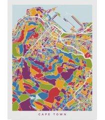 """michael tompsett cape town south africa city street map canvas art - 15"""" x 20"""""""