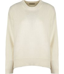 laneus white wool-angora blend sweater