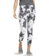 hue women's mod modern tie-dye high rise denim skimmer legging