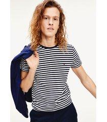 camiseta de corte slim en algodón elástico multicolor tommy hilfiger