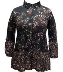style & co floral-print tunic, created for macy's
