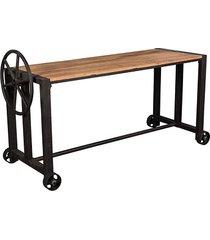 stół stare drewno na kółkach 165x60x79