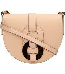 chloé darryl shoulder bag in beige leather