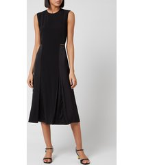 victoria, victoria beckham women's slit detail dress - black - uk 12