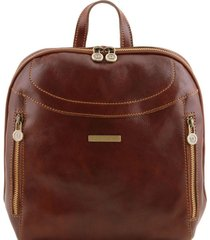 tuscany leather tl141557 manila - zaino in pelle marrone
