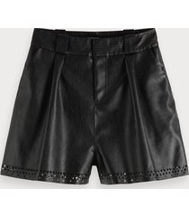 scotch & soda faux leather shorts