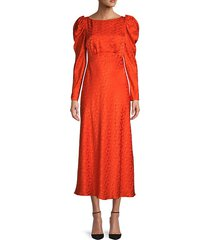 alena silk princess-sleeve dress