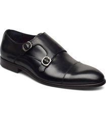 double monk strap shoe shoes business monks svart tga by ahler
