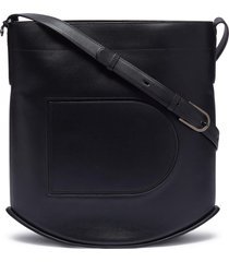 'pin box' leather crossbody bag