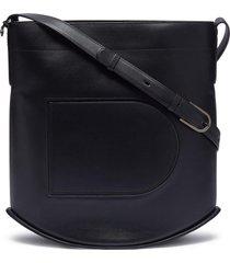 'pin box' leather crossbody bag