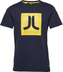 box icon t-shirt t-shirts short-sleeved blå wesc