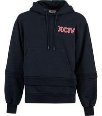 gcds back logo hoodie
