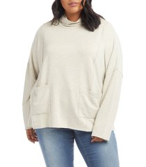 plus size women's karen kane turtleneck pullover