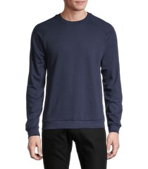 onia men's owen raglan-sleeve sweatshirt - blue sand - size xxl