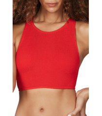 women's bound by bond-eye the sydney bikini top, size one size - red