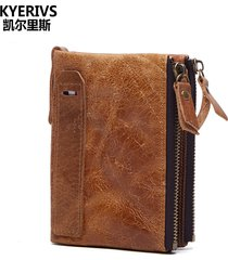 fashion genuine leather men wallets wallet id card holder coin purse wallet men