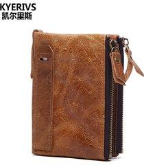 fashion genuine leather men wallets wallet id card holder coin purse wallet men