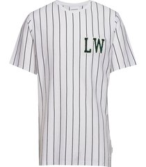 striped tee w. application s/s t-shirts short-sleeved wit lindbergh