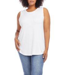 plus size women's karen kane tank top, size 3x - white