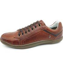 calçado masculino sapatênis em couro mogno kéffor linha fênix - kanui