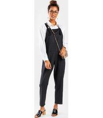 jess tie sleeve overall jumpsuit - black
