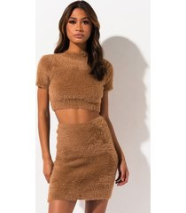 akira toffee fuzzy knit mini skirt