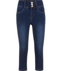 jeans ultra elasticizzato 3/4 (blu) - john baner jeanswear