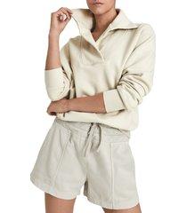 women's reiss farley sweatshirt, size medium - beige