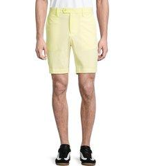 j. lindeberg men's flat-front shorts - yellow - size 38