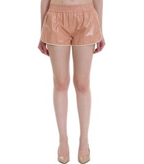 drome shorts in rose-pink leather