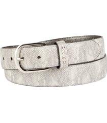 dkny metallic snake-embossed belt