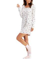 jenni 2-pc. sleep shirt & socks set, created for macy's