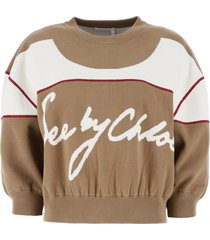 see by chloé knit sweatshirt