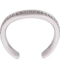 alinka 'tania' thumb ring diamond full surround ring - metallic