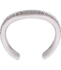 alinka 'tania' thumb ring diamond full surround ring - metallic
