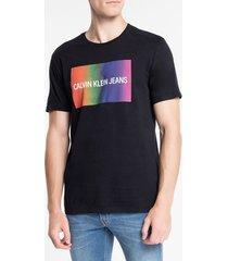 camiseta masculina pride preta calvin klein jeans - p