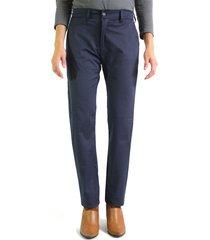 pantalón casual dril licrado aranzazu acacia - azul navy