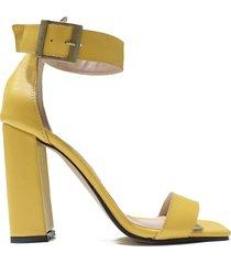 sandalia de cuero amarilla felmini rosana