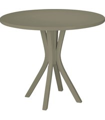 mesa de madeira redonda de madeira felice 410 cinza - maxima