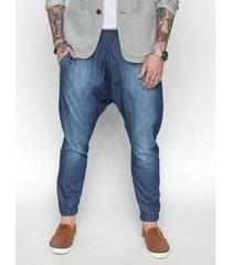 spodnie bawełniane free niebieskie