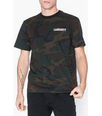 carhartt wip s/s college script t-shirt t-shirts & linnen camo