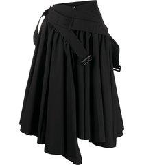 junya watanabe comme des garçons pre-owned buckle detail flared skirt