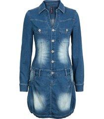abito di jeans a maniche lunghe (blu) - rainbow