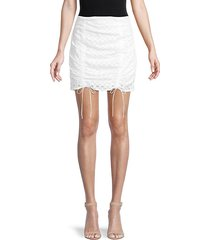 montauk eyelet-cotton mini skirt