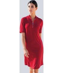 jersey jurk alba moda rood